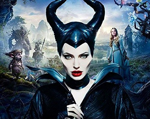 Prettybuy Disguise Women's Disney Maleficent Movie Cosplay Deluxe Horns Hat