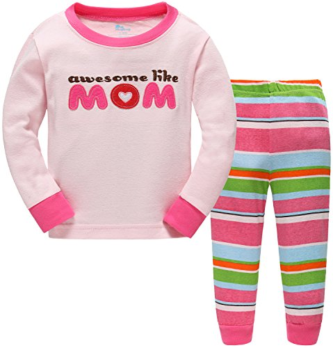 Hugbug Toddler Girls Awesome Like Mom 2-Piece Pajama Set 2-7T