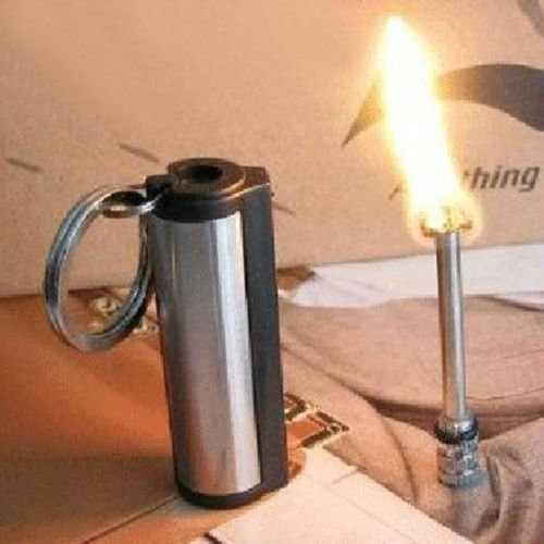 Survival Camping Hiking Emergency Fire Starter Flint Match Lighter KeyChain (Black) (Flint Ring compare prices)