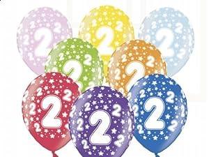 budila 10 luftballons metallic zum 2 geburtstag bunt gemischt ca 110cm umfang heliumgeeignet. Black Bedroom Furniture Sets. Home Design Ideas