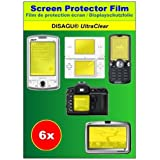Ultra Clear Screen Protector set of 6 for Panasonic Lumix DMC-TZ6by DISAGU