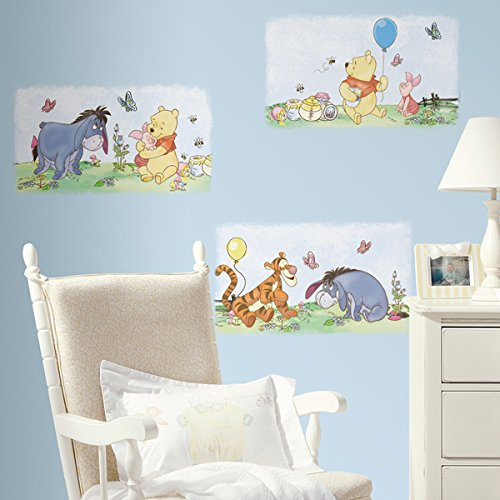 RoomMates RMK1637SCS Winnie the Pooh Poster Peel and Stick Wall Decals