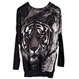 niceeshopTM Womens Long Sleeve Casual Tiger Pullover Loose Knitted Sweater