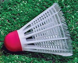 Sportime Badminton Shuttlecocks Synthetic - White - Pack of 12