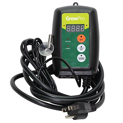 Grow Pro Digital LED Thermostat Seedling Cloning Seed Germination Heat Mat Temperature Controller Probe (Seed Starter Pad compare prices)