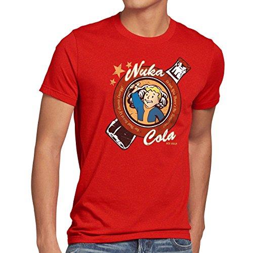 A.N.T. Drink Nuka Cola T-shirt da uomo vintage vault boy, Dimensione:3XL;Colore:rosso