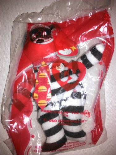 TY McDonald's Teenie Beanie - #9 HAMBURGLER the Bear (2004) by Beanie Babies - 1