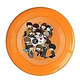 ARIアリペット用品 かわいい イケメン アイドル エクソ グループ ペット 犬 ドッグディスク グッズ カジュアル フリスビー 遊び用 おもちゃ オレンジ Size One Size
