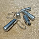 MeanHoo Mini Pill Oil Lighter miniature Silver Portable small oil machine key chain pocket wheel kerosene