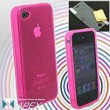 iPhone4/iPhone 4 専用 Ripple TPUカバーケース(ピンク)[APEX]【iPhone4 iPhone 4 サーキュラー】【訳あり】【箱つぶれ】