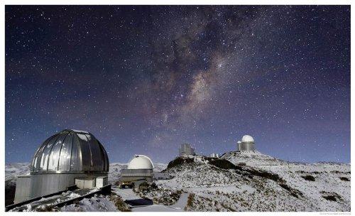 Astronomy Poster - Eso - Potw1319A - Milky Way Shines Over Snowy La Silla - 2...