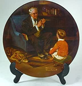 Knowles The Tycoon Norman Rockwell plate - from the Rockwell Heritage Collection - CP1240