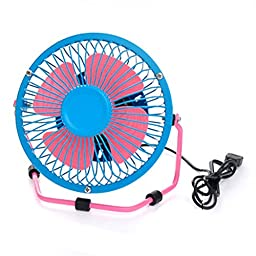 Desktop Ultra-Quiet And Creative Mini Cute Portable USB Fan Blue&Pink