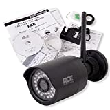 ACE ワイヤレス 防犯カメラ 130万画素 microSDカード無し ブラック IP66防水 プリレコード機能付き 動態検知 暗視機能 取扱い説明書 WIP-90113B-V