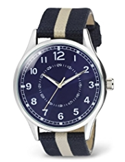 Canvas Striped Strap Watch