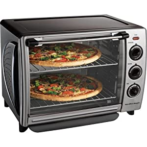 Countertop Pizza Oven Uk : Hamilton Beach 31199R Countertop 1.1-Cubic-Foot Convection Oven With ...