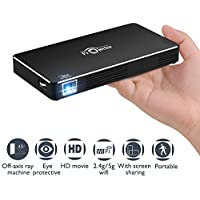 HuangYuTingTime Full HD 1080p 100-Lumens LED Home Theater Projector (Black)