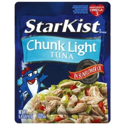 Starkist Chunk Light Tuna In Oil In Pouch, 6.4-Ounce (Pack Of 6)
