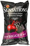 Walkers Sensations Balsamic Vinegar and Caramelised Onion 175 g (Pack of 12)