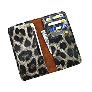 i-KitPit : PU Leather Wallet Flip Pouch Case For Micromax Canvas 2 A110 / A110Q (BLACK & GREY SHADE)