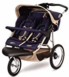 InStep Safari Swivel Double Jogging Stroller (Blue/Khaki)
