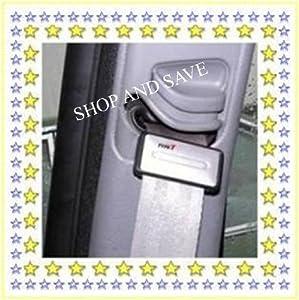 CAR SEAT BELT CLIP CLIPS STOP STOPPER ADJUSTER ADJUSTERS - SILVER