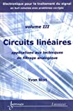 Circuits lin�aires : Applications aux techniques de filtrage analogique