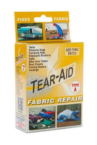 Tear Aid Fabric Repair Patch Kit Sofa Shoe Chair Tent