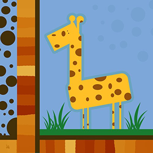 Green Leaf Art Geo Giraffe Canvas Art