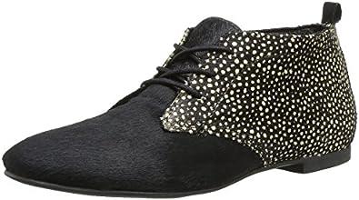 Elle Grenelle, Chaussures de ville femme - Noir (Noir Beige), 37 EU