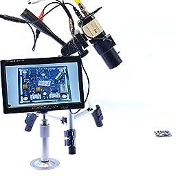 Aihome Varifocus Lens 800TVL Industrial Microscope BNC Camera For BGA PCB Soldering PAL 5mm-50mm Zoom Lens