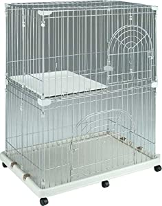 IRIS Pet Wire 2-Tier Cat Cage