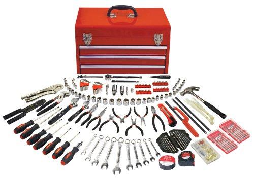 Apollo Precision Tools Dt6803 297 Piece Mechanics Tool Kit In Three Drawer Steel Tool Box