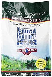 Natural Balance L.I.D. Limited Ingredient Diets Lamb Meal and Brown Rice Small Breed Bites Formula for Dogs, 5-Pound Bag