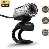 AUSDOM® AW615 12.0M 1080P HD USB Webcam with Microphone for Laptop / Desktop / Skype / MSN, Auto Exposure, Digital Zoom, Clip-On & Freestanding