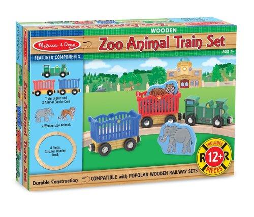 Melissa & Doug Zoo Animal Train Set