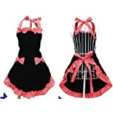 Hyzrz Hot Cute Lovely Lady's Kitchen Fashion Flirty Apron For Women's Girls With Pockets (Black And Red).