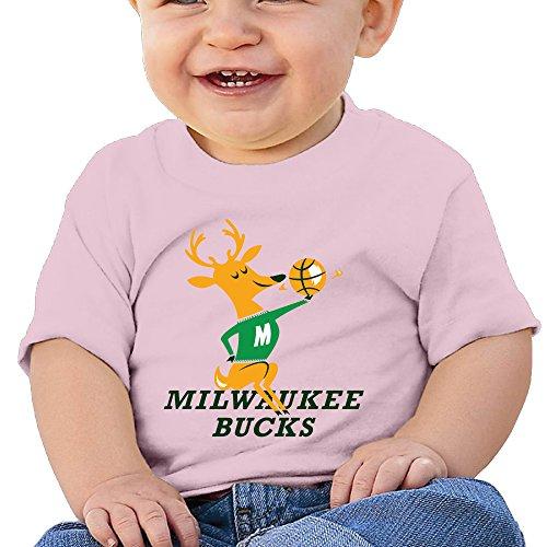 AegeanSea Milwaukee NBA Bucks Lovely Newborn Baby Clothes T-shirt Tops 24 Months