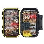 Hisea Pack of 120 Fly Fishing Flies M...