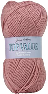 100g Top Value Double Knitting Yarn by James Brett (Rose Pink 8422)
