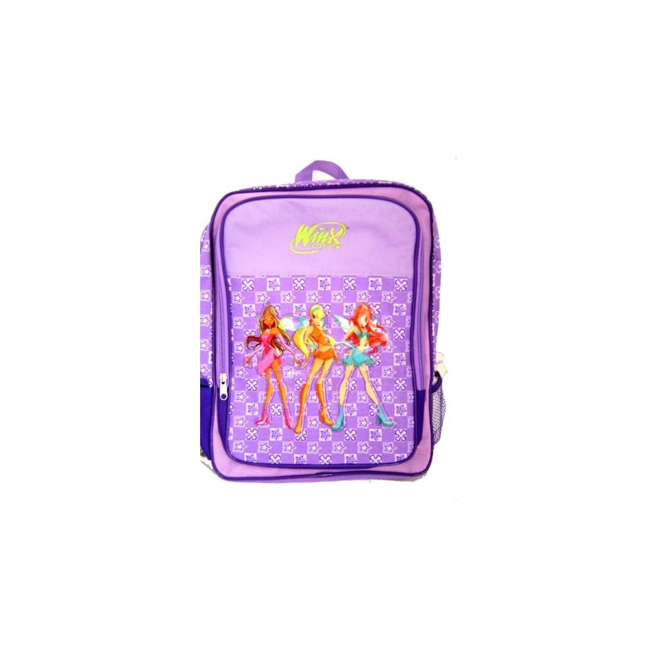 Winx club large purple backpack winx club fairy magic large school