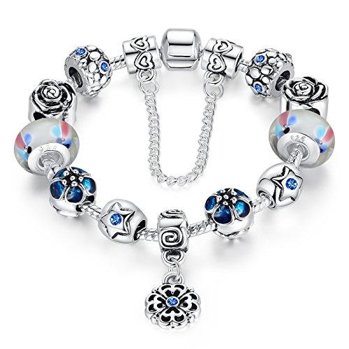 wostu-liebe-sichere-kette-silber-plattiert-blaue-kristalle-blumen-anhanger-charme-europaischen-perle
