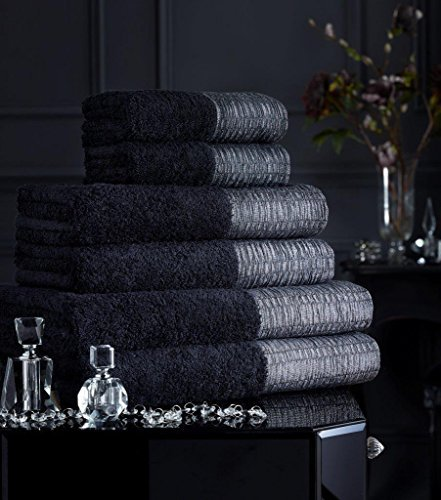edsaa-supreme-egyptian-cotton-500-gsm-lavish-laurex-border-hand-towel-lavish-black-by-eds