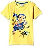 Ninja Hattori Boys' T-Shirt (HST-2125_Yellow_7 - 8 years)