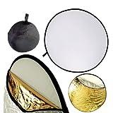 Múltiples discos reflectores de luz Neewer 5 en 1 translúcido, plata, oro, blanco, negro, de 60x60cm/22x22, redondos plegables, para estudio.