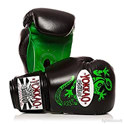 Yokkao Black Gecko Leather Boxing Gloves