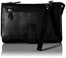 Derek Alexander Deluxe Clutch with Detachable Strap, Black, One Size