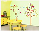 Asmi collection PVC Wall Stickers Wall Decals Tree Birds Nest