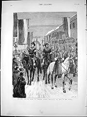 日付の葬式1881を発表している遅い皇帝のロシアの帝国布告者の旧式な印刷物
