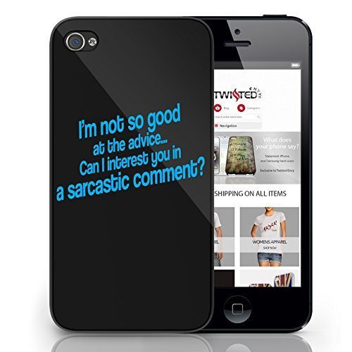 Black Cover For iPhone 6 Sarcastic Comment Advice Funny Cool Quirky Phone Case
